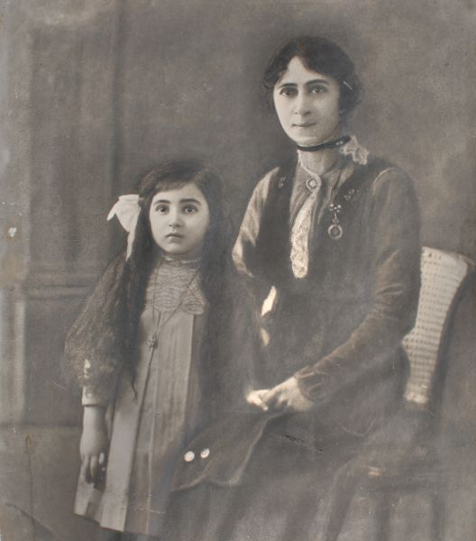 Unidentified Armenian mother and daughter