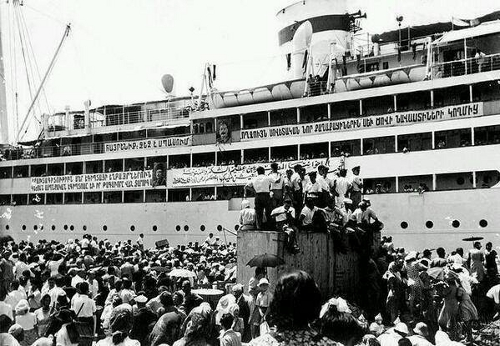POBEDA Ship 1947 Armenian immigrants to Armenia