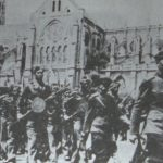 Francs-tireurs et partisans military parade with Ashod Ghartashian, Nîmes - May 1945