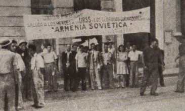 Armenian Anti-Fascist demonstration in Cuba on May 1st, 1943