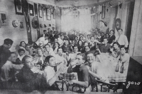 Festive meal in the honor of the Armenian students of Cairo, Egypt 1939