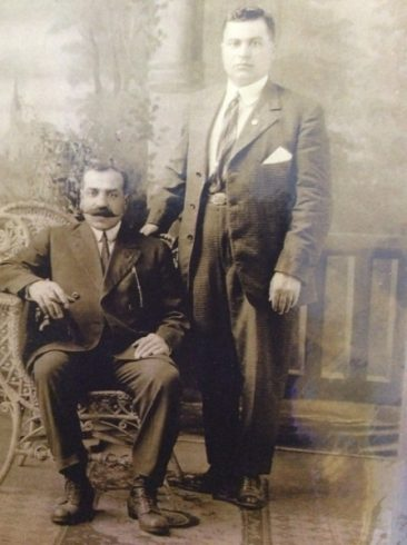 Unidentified Armenian men in the USA