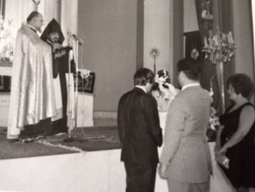 Souren and Sonia Zarmanian – Our marriage in Surp Nechan church in Beirut late October 1973