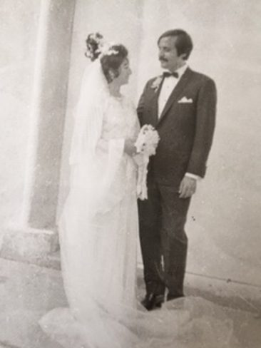 Our marriage in St. Nechan church in Beirut late October 1973 with Zarmanian and Kechichian families