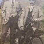 Aram Zarmanian with the commissioner of Adana-Mersin 1918