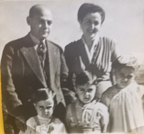 Zarmanian Family Aram, Yeranik, Souren, Puzant, and Lousig circa 1945