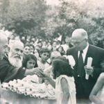 Aram Zarmanian as a benefactor of 7 orphans in St. Nishan school, Beirut Lebanon circa 1940