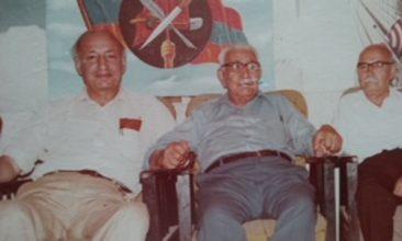 Aram Zarmanian with the hero Dadjad Terlemezian and Avo, the publisher of Heghapokhagan Album