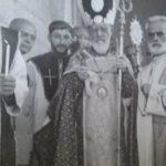 Arcbishop Khat Atchabahian is inaugurating the Cross church of Chtaura